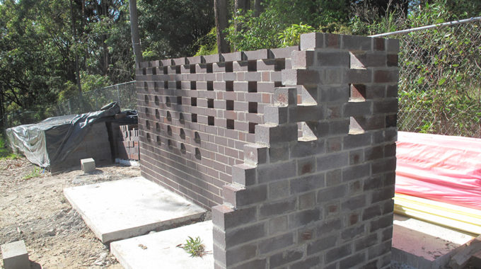 Whitebridge House – Brick Screen Sample Wall